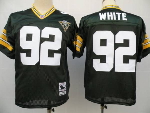 new products 251ff 0d79e Mitchell & Ness Packers #92 Reggie White Green With 75th ...